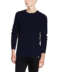 Jersey con cuello circular azul marino de Jack & Jones