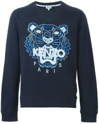 Jersey con cuello circular azul marino de Kenzo