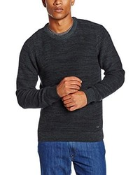 Jersey con cuello circular azul marino de Lee