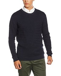 Jersey con cuello circular azul marino de Minimum