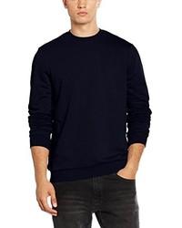 Jersey con cuello circular azul marino de New Look