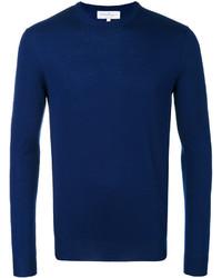Jersey con cuello circular azul marino de Salvatore Ferragamo