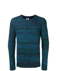 Jersey con cuello circular azul marino de Santoni