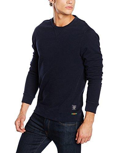 Jersey con cuello circular azul marino de Scotch & Soda
