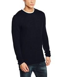 Jersey con cuello circular azul marino de Selected Homme