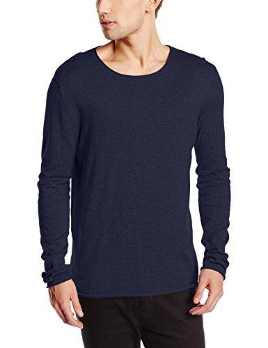 Jersey con cuello circular azul marino de Selected