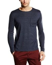 Jersey con cuello circular azul marino de Tom Tailor
