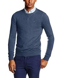 Jersey con cuello circular azul marino de Tommy Hiliger