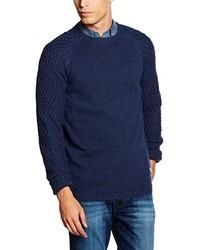 Jersey con cuello circular azul marino de Wrangler