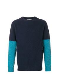Jersey con cuello circular azul marino de YMC