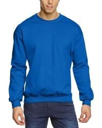 Jersey con cuello circular azul de Anvil