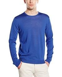 Jersey con cuello circular azul de Benetton