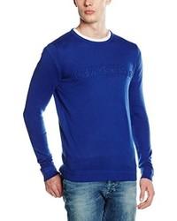 Jersey con cuello circular azul de Calvin Klein