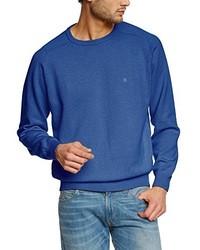 Jersey con cuello circular azul de Casamoda