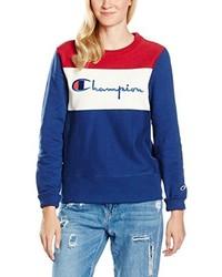 Jersey con cuello circular azul de Champion Reverse Weave