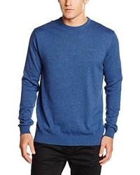 Jersey con cuello circular azul de Esprit