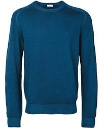 Jersey con cuello circular azul de Etro