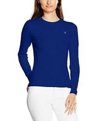Jersey con cuello circular azul de GANT