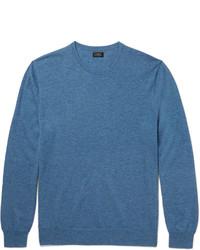 Jersey con cuello circular azul de J.Crew
