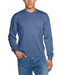 Jersey con cuello circular azul de Maerz