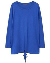 Jersey con cuello circular azul de Mango