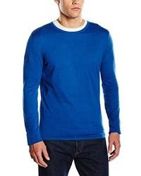 Jersey con cuello circular azul de Selected