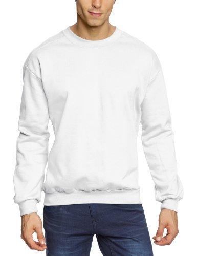 Jersey con cuello circular blanco de Anvil