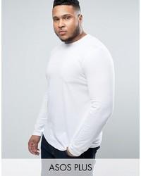 Jersey con cuello circular blanco de Asos