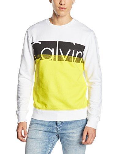 Jersey con cuello circular blanco de Calvin Klein Jeans