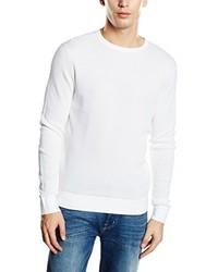 Jersey con cuello circular blanco de Calvin Klein