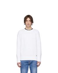 Jersey con cuello circular blanco de DSQUARED2