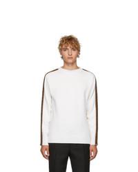 Jersey con cuello circular blanco de Fendi