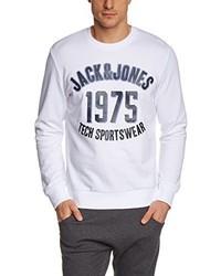 Jersey con cuello circular blanco de Jack & Jones