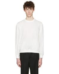 Jersey con cuello circular blanco de Lemaire