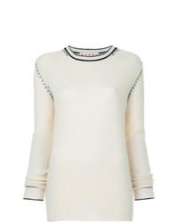 Jersey con cuello circular blanco de Marni