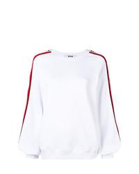 Jersey con cuello circular blanco de MSGM