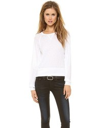 Jersey con cuello circular blanco de Rag and Bone