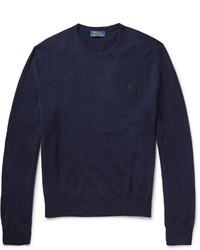 Jersey con cuello circular bordado azul marino de Polo Ralph Lauren