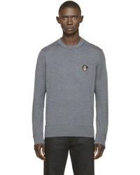 Jersey con cuello circular bordado gris de Givenchy