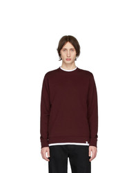 Jersey con cuello circular burdeos de Norse Projects