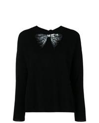 Jersey con cuello circular con adornos negro de Blugirl