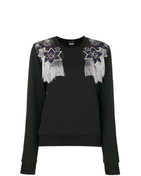 Jersey con cuello circular con adornos negro de Just Cavalli