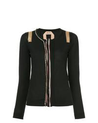 Jersey con cuello circular con adornos negro de N°21