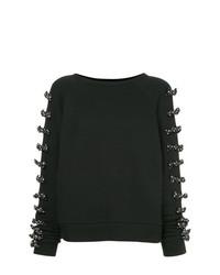 Jersey con cuello circular con adornos negro de Tu Es Mon Trésor