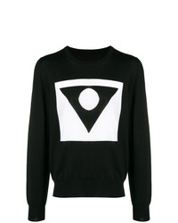 Jersey con cuello circular con estampado geométrico negro de Maison Margiela