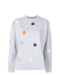 Jersey con cuello circular con print de flores gris de Kenzo