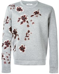 Jersey con cuello circular con print de flores gris de Valentino