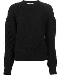 Jersey con cuello circular con relieve negro de Givenchy