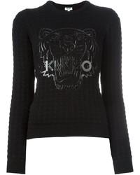 Jersey con cuello circular con relieve negro de Kenzo