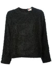Jersey con cuello circular con relieve negro de MSGM